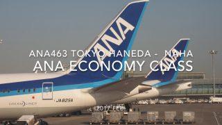 【Flight Report】 ANA463 TOKYO HANEDA - OKINAWA NAHA 2017・2 全日空ANA463搭乗記