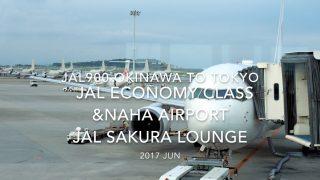 【Flight Report】 JAL900 OKINAWA NAHA to TOKYO HANEDA & SAKURA LOUNGE 2017・6 日本航空 那覇 - 羽田 搭乗記