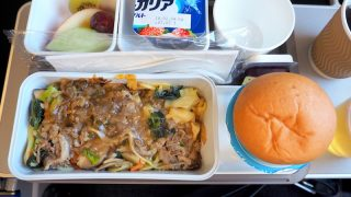 キャセイパシフィック CX509 成田 - 香港 エコノミークラス 機内食