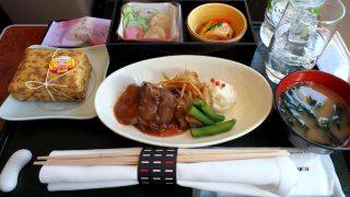 日本航空 JAL915 羽田 – 那覇 ファーストクラス 機内食