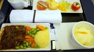 全日空 NH860 香港 ー 羽田 ビジネスクラス機内食