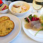 マレーシア航空 MH89 成田 ー クアラルンプール ビジネスクラス機内食