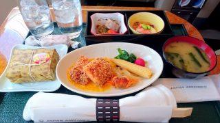 日本航空 JAL908 那覇 - 羽田 国内線ファーストクラス機内食 昼食