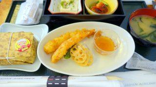 日本航空 JAL904 那覇 - 羽田 国内線ファーストクラス機内食 昼食