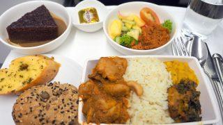 マレーシア航空 MH776 クアラルンプール - バンコク ビジネスクラス機内食 全景