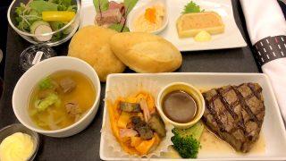 日本航空 JL99 羽田 - 台北(松山) ビジネスクラス機内食 夕食