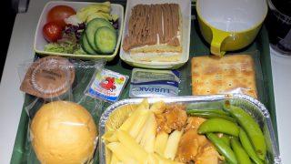 エチオピア航空 ET673 成田 - 香港 エコノミークラス機内食 夕食