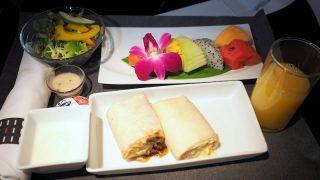 日本航空 JL34 羽田 - バンコク ビジネスクラス機内食 朝食