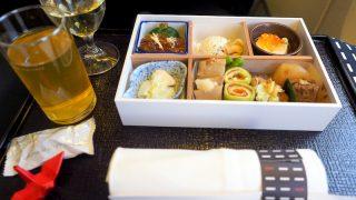日本航空 JL32 バンコク - 羽田 ビジネスクラス機内食 昼食
