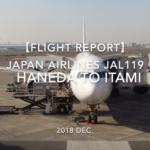 【Flight Report】 JAPAN AIRLINES JAL119 HANEDA TO ITAMI 2018 DEC 日本航空 羽田 - 伊丹 搭乗記