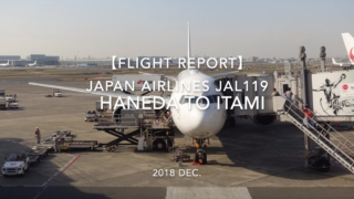 【Flight Report】 JAPAN AIRLINES JAL119 HANEDA TO ITAMI 2018 DEC 日本航空 羽田 - 伊丹 搭乗記