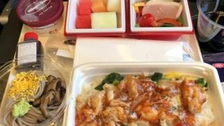 日本航空 JL29 羽田 - 香港 エコノミークラス 機内食