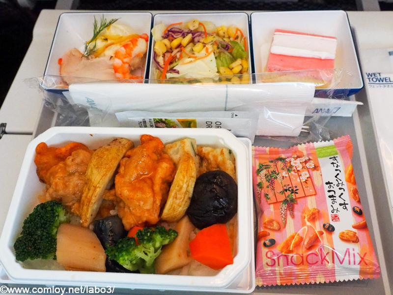 全日空 NH853 羽田 - 台北(松山)エコノミークラス機内食