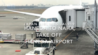 【機内から離着陸映像】2019 Dec Japan Airlines JAL919 HANEDA to NAHA, Take off HANEDA Airport