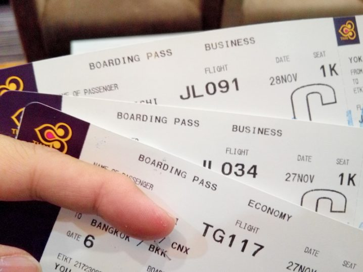 チェンマイ空港でたくさんチケットを発券