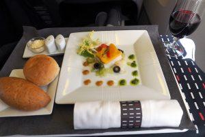 日本航空 JL32 バンコクー羽田 ビジネスクラス機内食