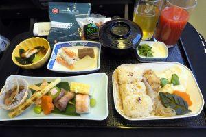 日本航空 JL98 台北(松山)-羽田 ビジネスクラス機内食