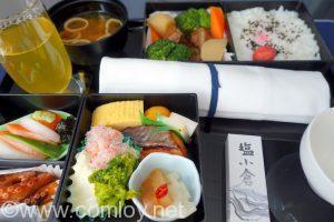 全日空 NH1187 羽田 - 台北(松山)ビジネスクラス機内食