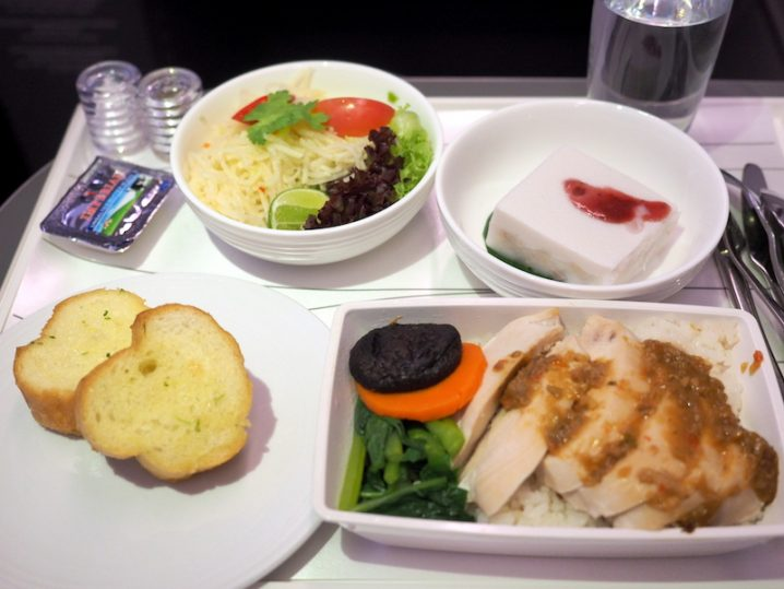 マレーシア航空 MH775 バンコク ー クアラルンプール ビジネスクラス機内食