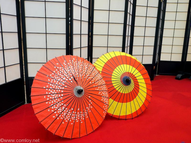 成田空港 YUKATA wearing 和風傘