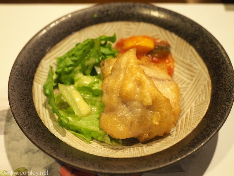 仙石高原箱根一の湯 鯵のフリッター サラダ添え