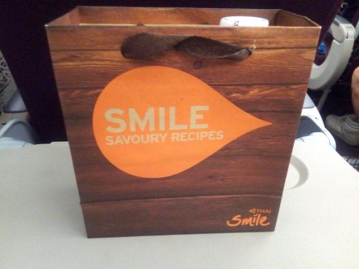 THAI Smile WE165 チェンマイ - バンコク エコノミークラス機内食
