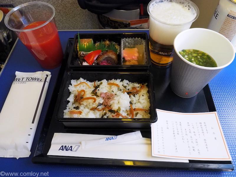 全日空 ANA464 沖縄 - 羽田 プレミアムクラス機内食