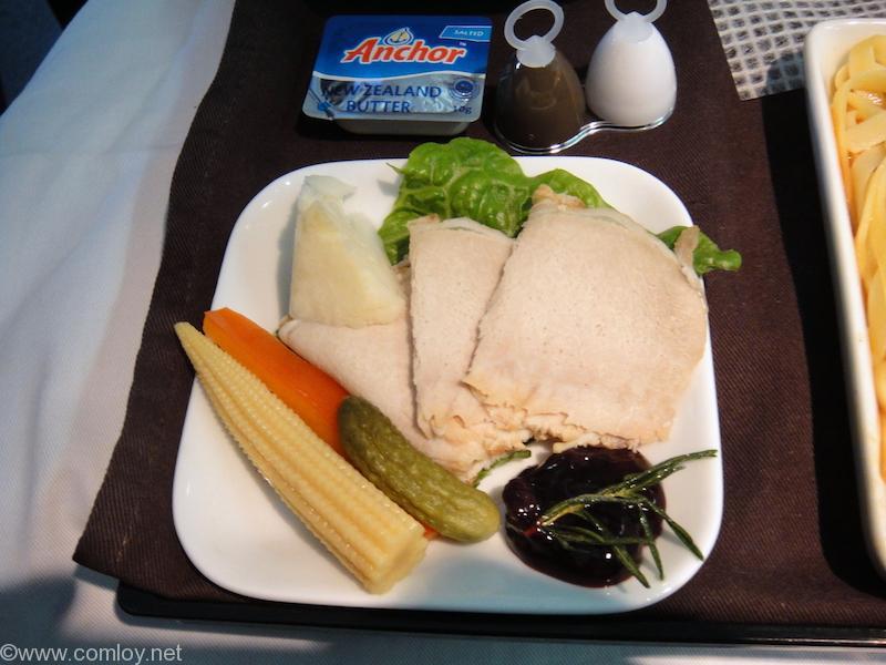 デルタ航空 DL649 グアム - 成田 ビジネスクラス機内食