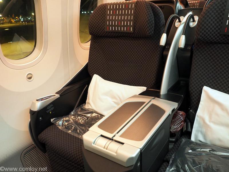 日本航空JL707 成田 - バンコク ビジネスクラスシート