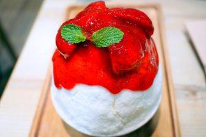 After you strawberry cheesecake kakigori