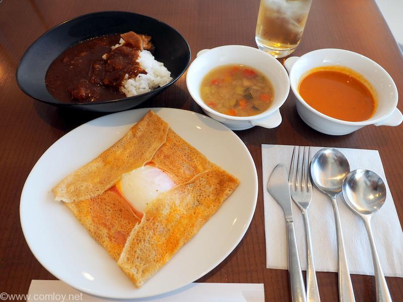 羽田空港JALファーストクラスラウンジ 今日の朝食